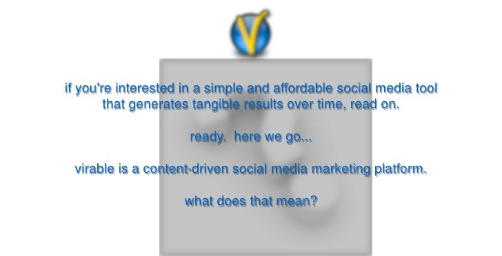 if youre interested in a simple and affordable social media tool        that generates tangible results over time, read on...