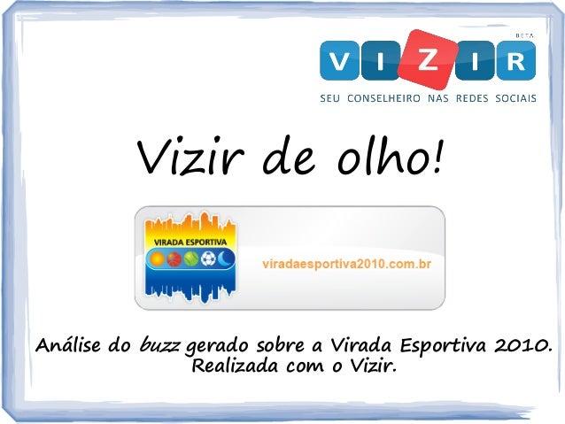 Vizir de olho! Análise do buzz gerado sobre a Virada Esportiva 2010. Realizada com o Vizir.