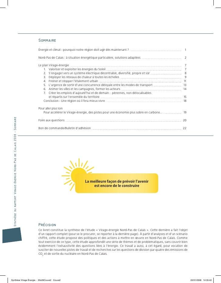 Virage Énergie Synthèse Énergies Davenir Nord-Pas-De-Calais 2008-2050 Slide 2