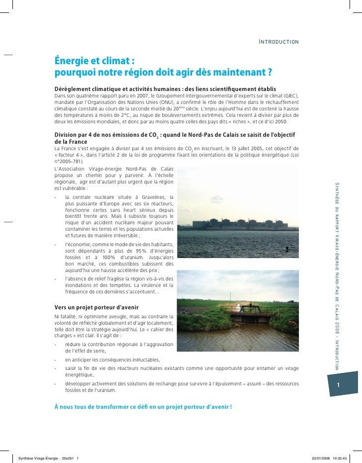 Virage Énergie Synthèse Énergies Davenir Nord-Pas-De-Calais 2008-2050 Slide 3