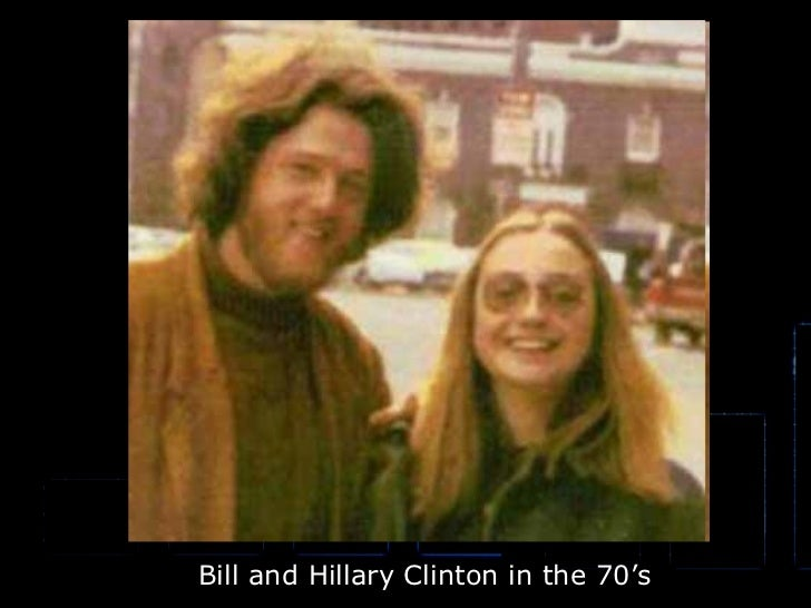 Bill and Hillary Clinton in the 70's