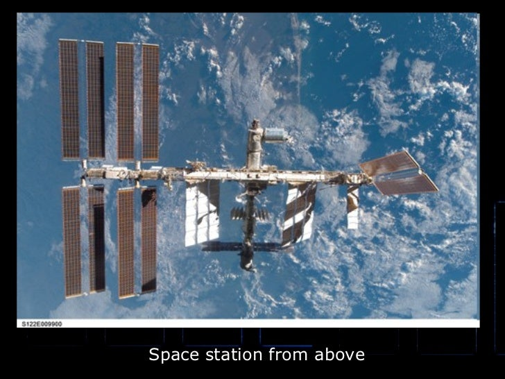 Space station from above