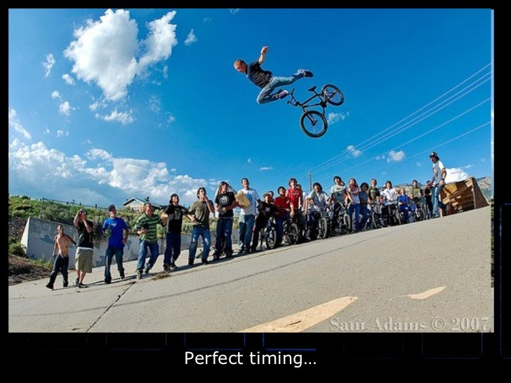 Perfect timing…