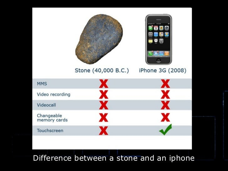 Difference between a stone and an iphone