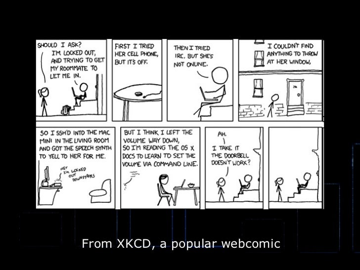 From XKCD, a popular webcomic