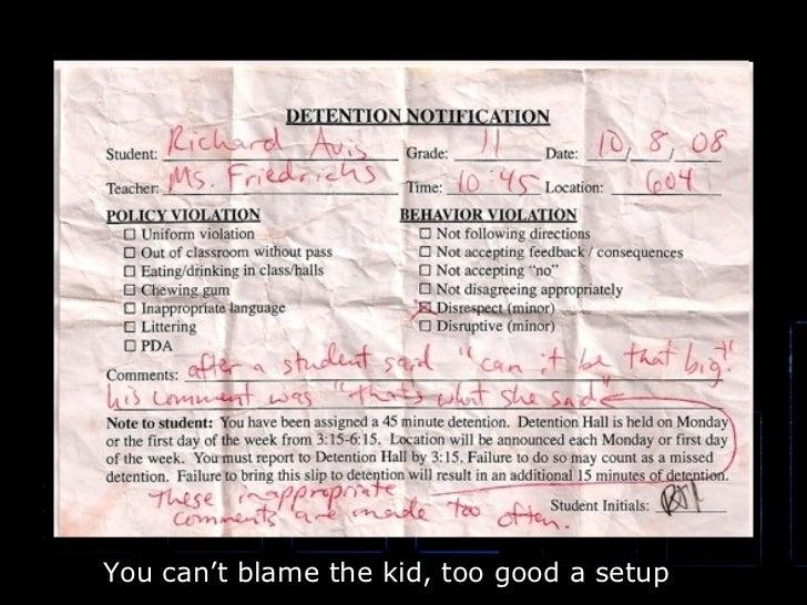 You can't blame the kid, too good a setup