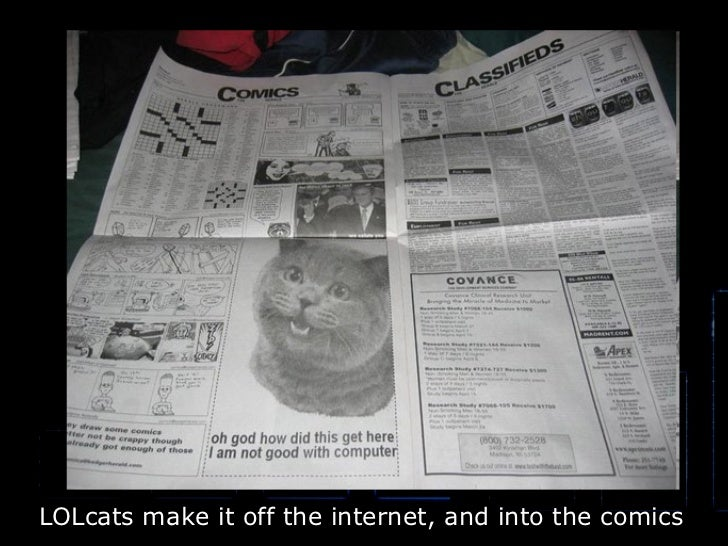 LOLcats make it off the internet, and into the comics
