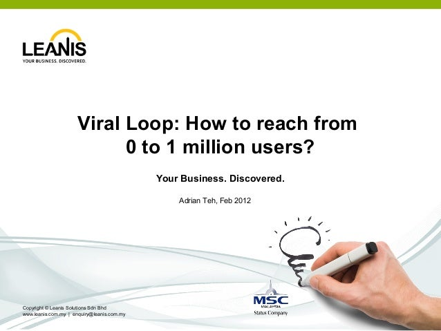 Viral Loop: How to reach from                           0 to 1 million users?                                            Y...