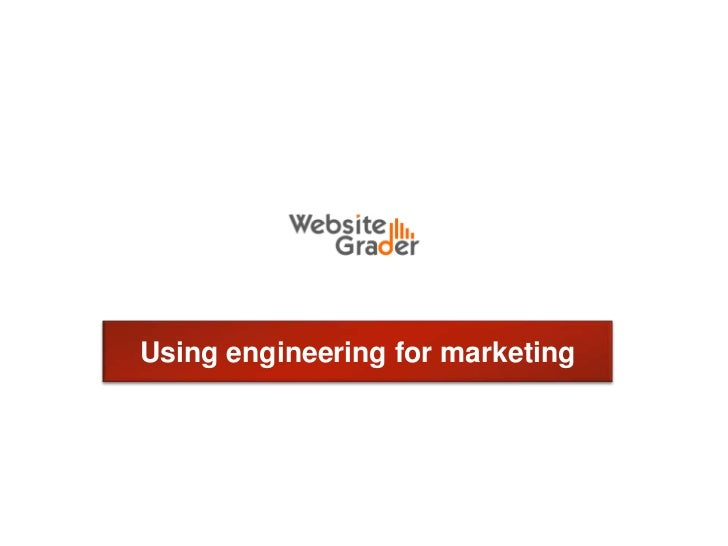 Using engineering for marketing<br />