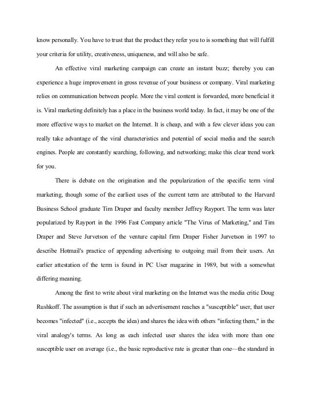 English Literature Essays   Know  Where Is A Thesis Statement In An Essay also Proposal Essay Outline Viral Marketing Through Social Networks An Insight High School Essay Format