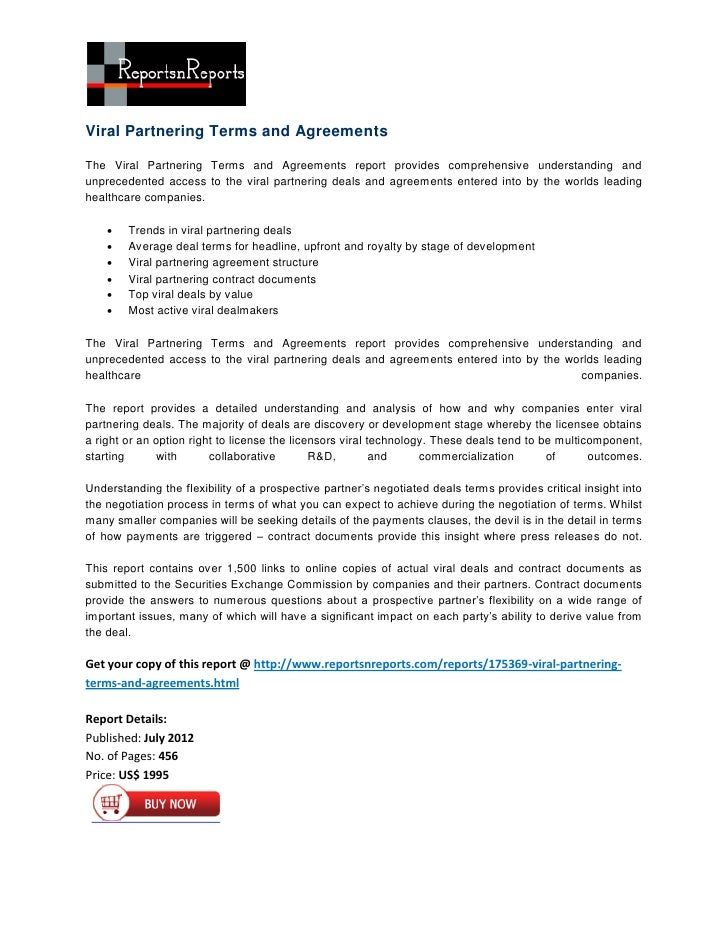 Viral Partnering Terms and AgreementsThe Viral Partnering Terms and Agreements report provides comprehensive understanding...