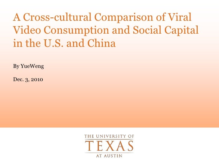 A Cross-cultural Comparison of Viral Video Consumption and Social Capital in the U.S. and China<br />By YueWeng<br />Dec. ...