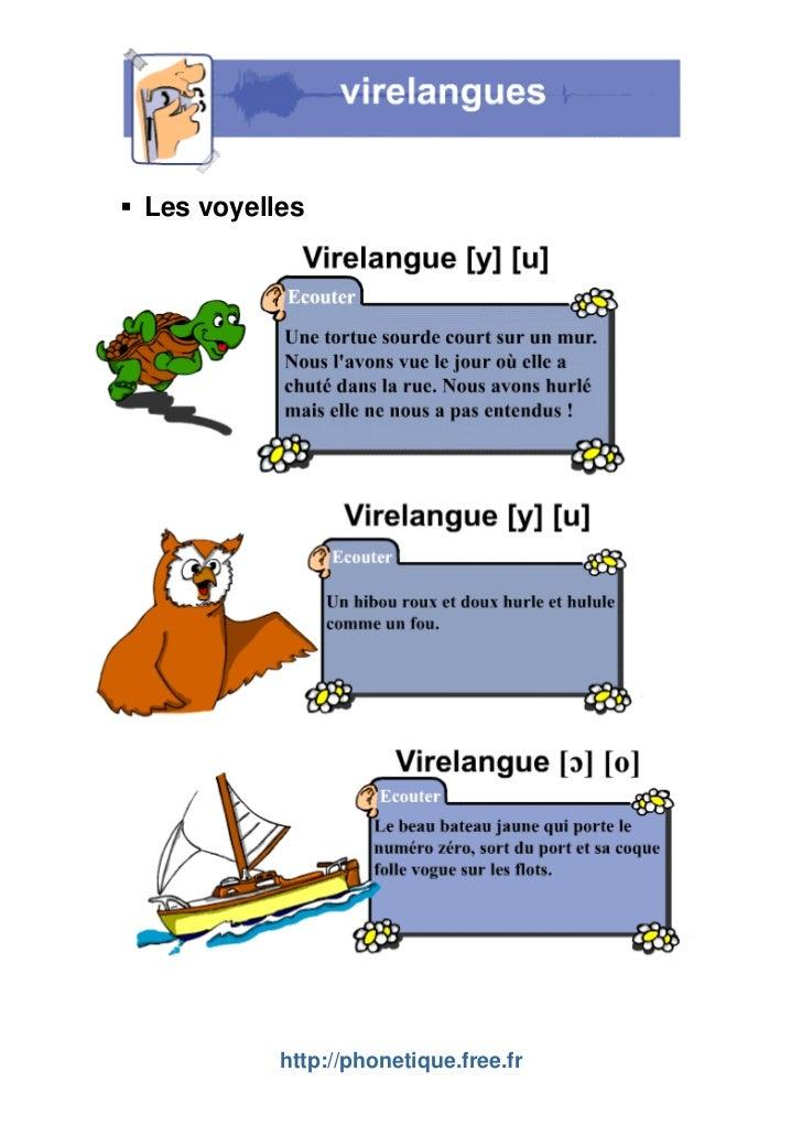 Les voyelles          http://phonetique.free.fr
