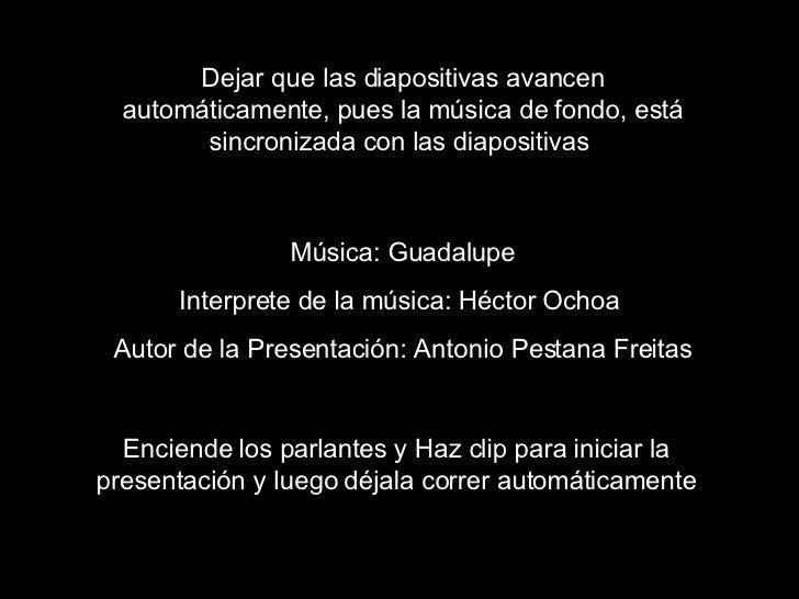 Dejar que las diapositivas avancen automáticamente, pues la música de fondo, está sincronizada con las diapositivas   Músi...
