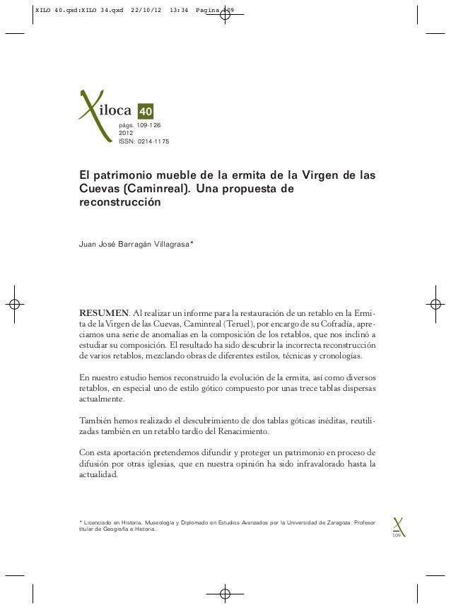 * Licenciado en Historia, Museología y Diplomado en Estudios Avanzados por la Universidad de Zaragoza. Profesortitular de ...