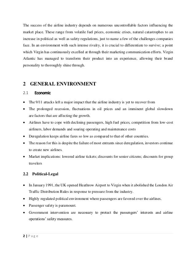 virgin atlantic competitor analysis 11 company overview virgin atlantic airways limited (virgin atlantic) a part of  sir  appendix 3 competitor analysis virgin atlantic airways british airways.