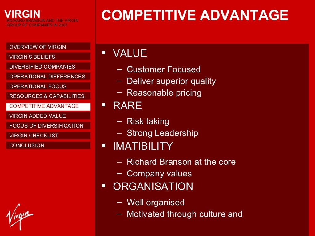 virgin group case study Virgin group strategic development 1 strategic development at virgin 2013 case study 2 content overview virgin's origin and history richard branson virgin growth corporate rationale corporate parenting challenges facing the group corporate future strategy branson's.