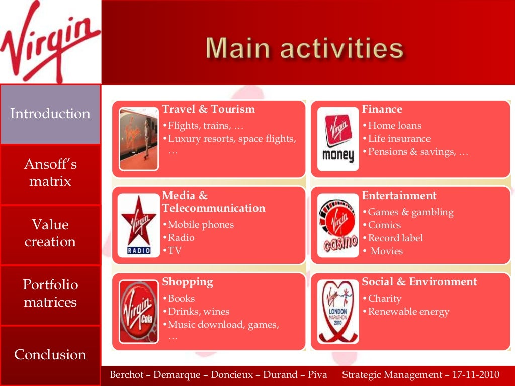 marketing and strategic analysis of virgin active Master dissertation in international marketing  strategy, particularly in category  brand extension: yamaha corporation as a successful  virgin never stops its  step in developing to a new field: virgin active, virgin holidays.