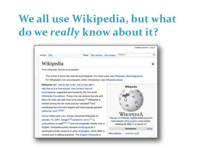 Wikipedia Demystified: A GLAM Perspective Slide 2