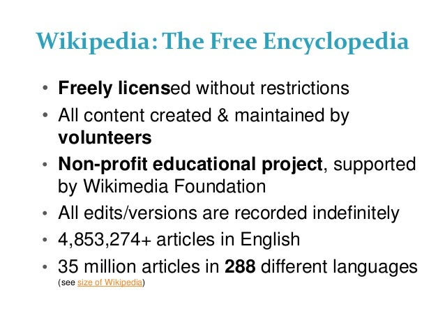 Wikipedia Demystified: A GLAM Perspective Slide 3