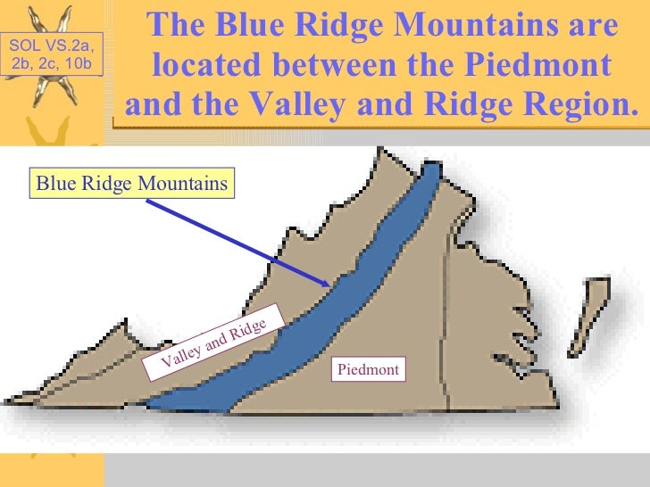 Geographic Regions Of Virginia Map.Virginia Regions Powerpoint 1