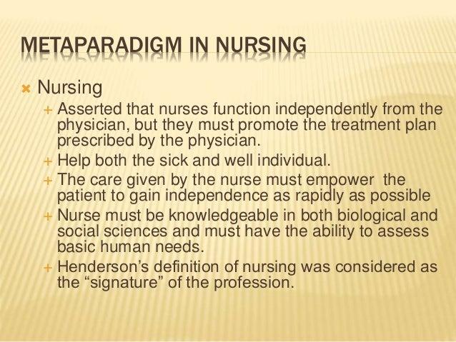 ida jean orlando metaparadigms in nursing Essay orlando s nursing process theory the grand theory this theory was formulated by ida jean orlando orlando's nursing theory addresses this metaparadigm.