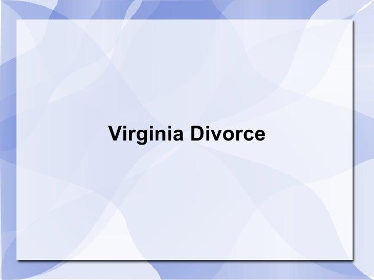 Virginia Divorce
