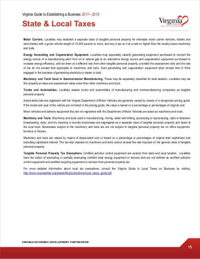Virginia guide to establishing a business 2017 2018