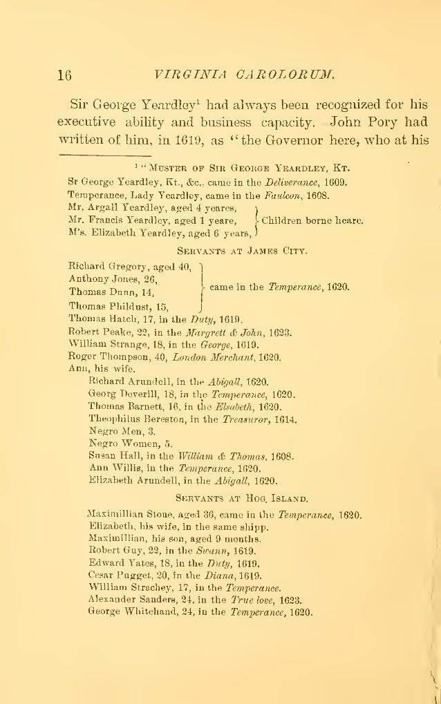Virginia Vetusta: During the Reign of James the First; Containing Letters and Documents Never Before Printed; A Supplement to the History of the Virginia Company