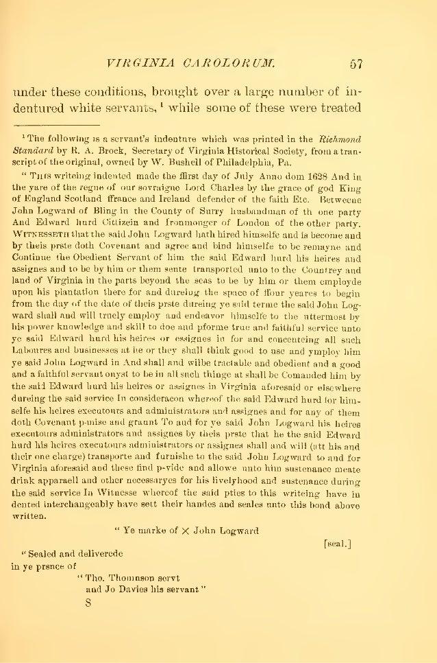 Richard Frethorne Martin S Hundred Letter