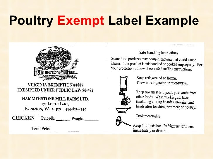 Virginia Poultry And Meat Regulations