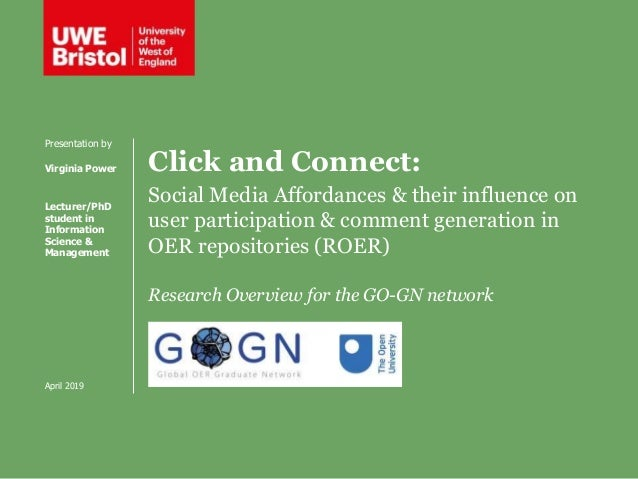 Click and Connect: Social Media Affordances & their influence on user participation & comment generation in OER repositori...