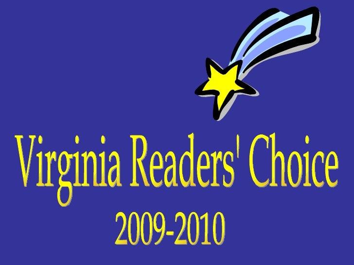 Virginia Readers' Choice 2009-2010