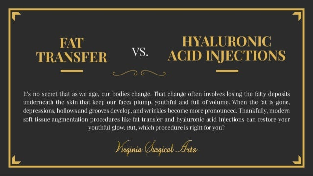 Fat Transfer vs. Hyaluronic Acid Injections