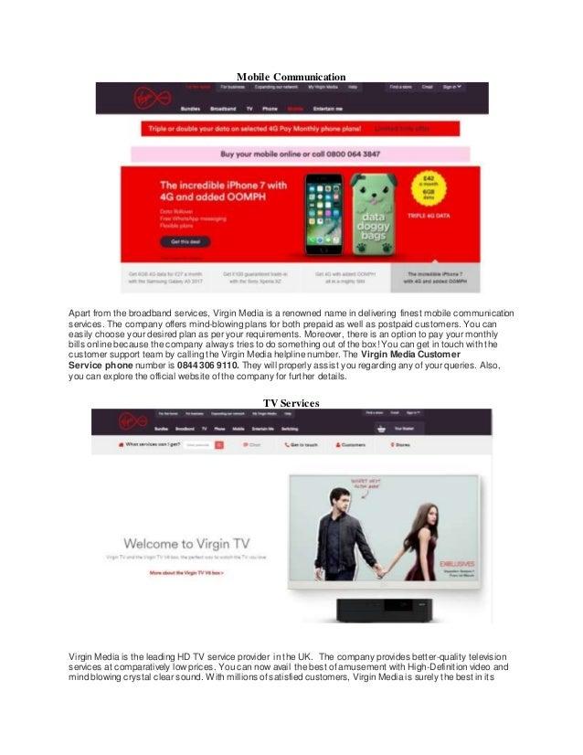Virgin media customer service
