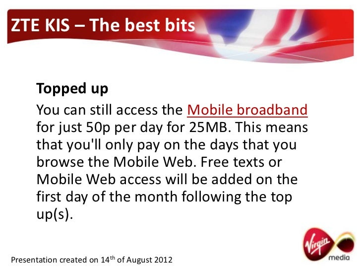 Virgin Mobile - The ZTE Kis