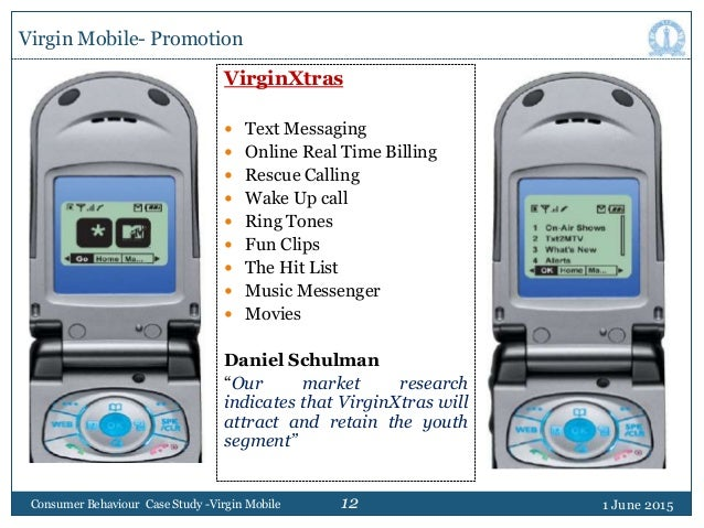 12 Virgin Mobile- Promotion VirginXtras  Text Messaging  Online Real Time Billing  Rescue Calling  Wake Up call  Ring...