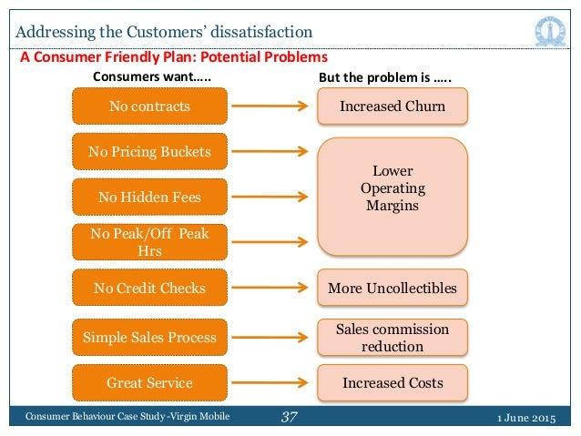 37 1 June 2015Consumer Behaviour Case Study -Virgin Mobile No contracts A Consumer Friendly Plan: Potential Problems Incre...