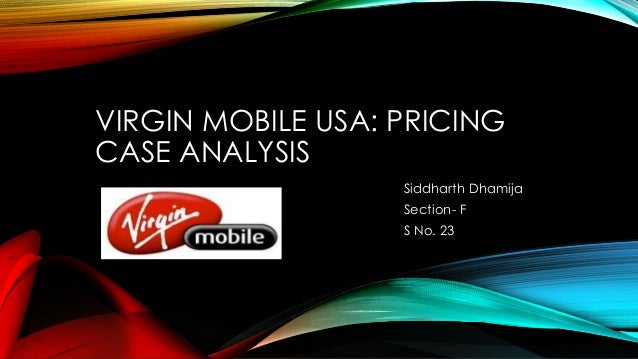 virgin mobile usa pricing essay