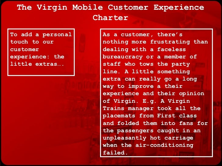 The Virgin Mobile Customer Experience