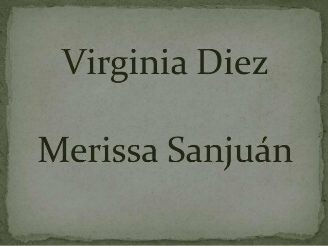 Virginia Diez Merissa Sanjuán