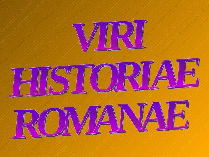 VIRI HISTORIAE ROMANAE