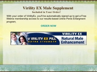 Virility Ex Free Trial Virility Ex Male Supplement