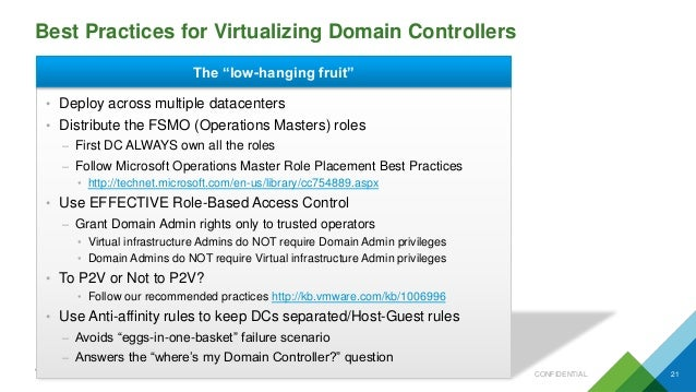 VMworld 2016: Virtualize Active Directory, the Right Way!