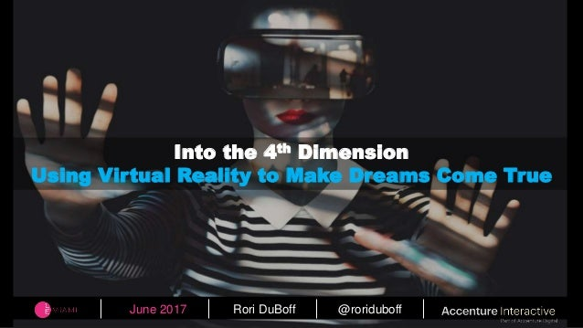 f005aaa25876 June 2017 Rori DuBoff  roriduboff Into the 4th Dimension Using Virtual  Reality to Make Dreams ...
