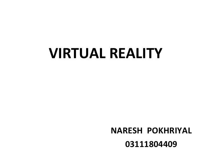 VIRTUAL REALITY        NARESH POKHRIYAL          03111804409