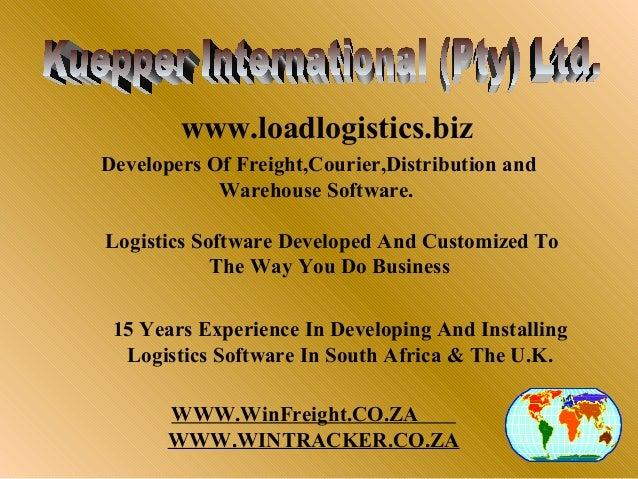 www.loadlogistics.bizDevelopers Of Freight,Courier,Distribution and            Warehouse Software.Logistics Software Devel...