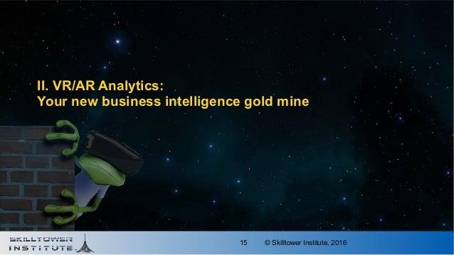 © Skilltower Institute, 201615 II. VR/AR Analytics: Your new business intelligence gold mine