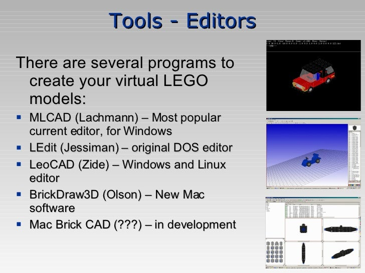Virtual LEGO: Intro to Free 3D LEGO Modeling Software