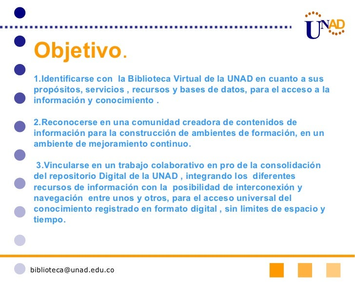 UNAD Biblioteca Virtual 2.0 Slide 2